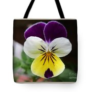 Pansy White Wings Tote Bag