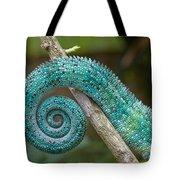 Panther Chameleon Tail Tote Bag