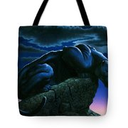 Panther On Rock Tote Bag