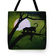 Panther Silhouette - Use Red-cyan 3d Glasses Tote Bag