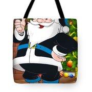 Panthers Santa Claus Tote Bag