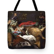 Pantry Scene With Servant By Frans Snyders Tote Bag
