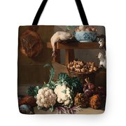 Pantry With Artichokes Cauliflowers And A Basket Of Mushrooms Tote Bag