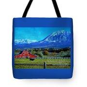 Paonia Mountain And Barn Tote Bag