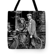 Papa With Charles On Bicycle, Fred On Porch Tote Bag