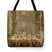 Papal Ceremony In St Peter In Rome Under The Canopy Of Bernini Tote Bag