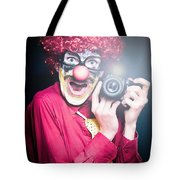 Paparazzi Taking Photograph At Red Carpet Event Tote Bag