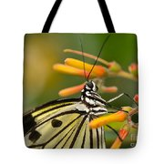 Paper Kite Butterfly With Orange Flower Tote Bag