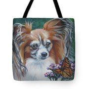 Papillon With Monarch Tote Bag