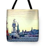 Parade Of Tugs, Hudson River, New York City Tote Bag