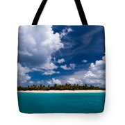 Paradise Is Sandy Cay Tote Bag by Adam Romanowicz