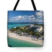 Paradise - Isla Mujeres - Playa Norte, Aerial Image Tote Bag