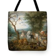 Paradise Landscape With Animals Tote Bag