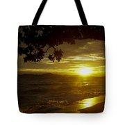 Paradise Lensflare Beach Sunset #9412 Tote Bag
