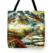 Paradise Mountain Tote Bag