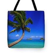 Paradise Palm Over Lanikai Tote Bag