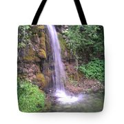 Waterfall In Spring Paradise Cove Winslow Illinois Tote Bag