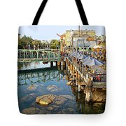 Paradise Pier At California Adventure Tote Bag