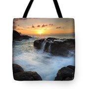 Paradise Sunset Splash Tote Bag