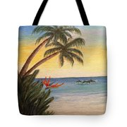 Paradise With Dolphins Tote Bag