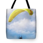 Paraglider Floating In The Clouds Tote Bag