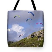Paragliding Over Sennen Cove Tote Bag