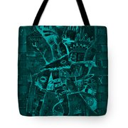 Paramount Turquoise Tote Bag