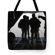 Pararescuemen Prepare For A Halo Jump Tote Bag