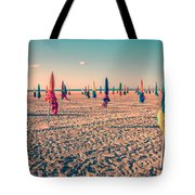 Parasols Of Deauville Tote Bag by Delphimages Photo Creations