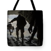 Paratroopers Jump Out Of A Kc-130j Tote Bag