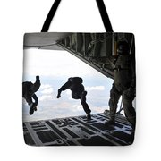 Paratroopers With The Spanish Military Tote Bag