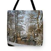 Walk In A Snowy Park Tote Bag