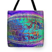Parched Earth Abstract Tote Bag