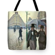 Paris A Rainy Day - Gustave Caillebotte Tote Bag