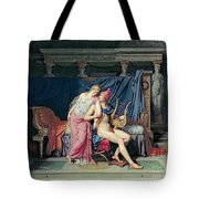 Paris And Helen Tote Bag by Jacques Louis David