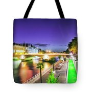 Paris At Night 16 Art Tote Bag