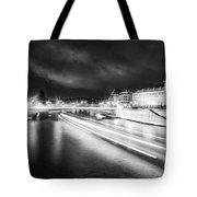 Paris At Night 19 Bw Art  Tote Bag