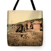 Trouville France Beach - The Good Old Days Tote Bag