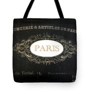 Paris Black And White Gold Typography Home Decor - French Script Paris Wall Art Home Decor Tote Bag