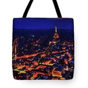 Paris City View Tote Bag