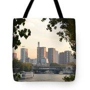 Paris Cityscape Across The Water Tote Bag