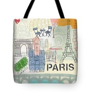 Paris Cityscape- Art By Linda Woods Tote Bag by Linda Woods