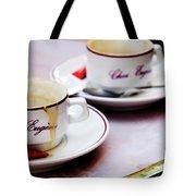 Paris Coffee Cups Tote Bag