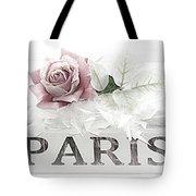 Paris Dreamy Pastel Pink Roses On Paris Book - Romantic Paris Roses And Books Shabby Chic Art Tote Bag
