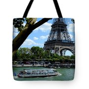 Paris Eiffel Boat Tote Bag