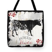 Paris Farm Sign Cow Tote Bag