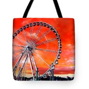 Paris Ferris Wheel Pop Art 2012 Tote Bag