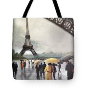 Paris Fog Tote Bag