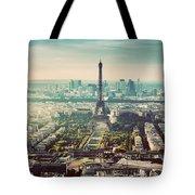 Paris, France Vintage Skyline, Panorama. Eiffel Tower, Champ De Mars Tote Bag
