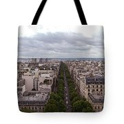 Paris From The Arch De Triumph Tote Bag